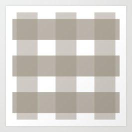 Brown checkered pattern Art Print