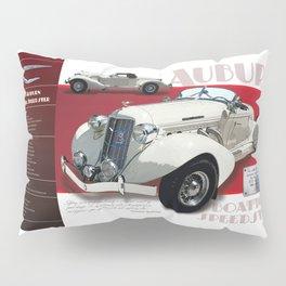 1936 Auburn Boattail Speedster Spec Poster Pillow Sham
