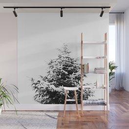 Minimal fir tree portrait Wall Mural