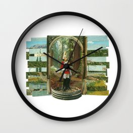 Nature Colosseum Collage Wall Clock