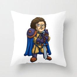 Angry man warrior cartoon Throw Pillow