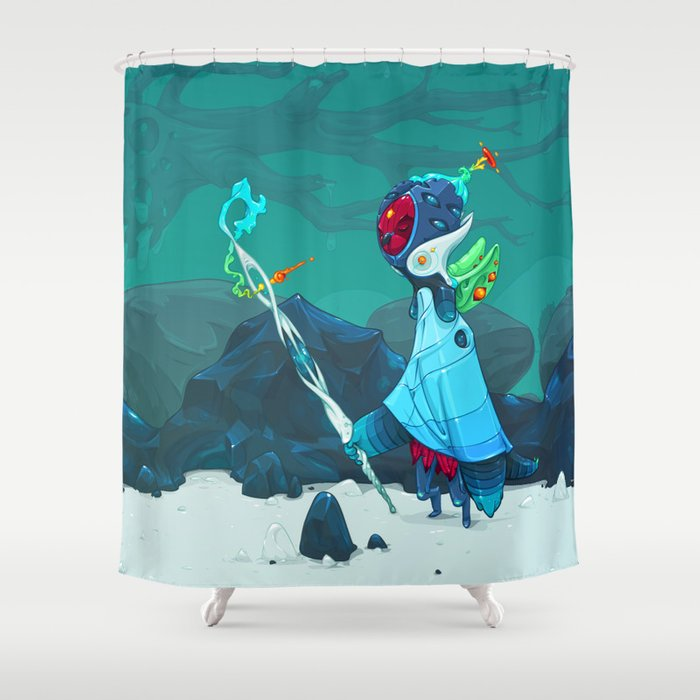 Observant Shower Curtain