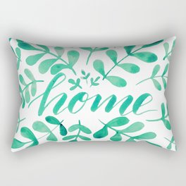 Watercolor home foliage - green Rectangular Pillow