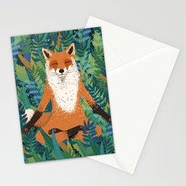 Fox Yoga Stationery Cards