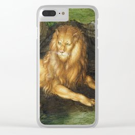 Albrecht Durer - Lion Clear iPhone Case