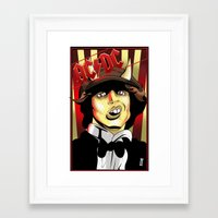 acdc Framed Art Prints featuring Rockarture ACDC by JHC Studio