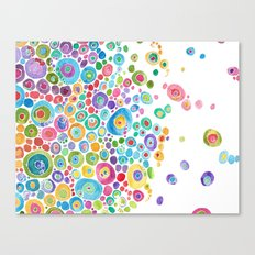 Inner Circle - white Canvas Print