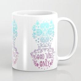 Good vibes only pink Coffee Mug