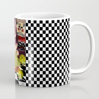 pinup Mugs featuring PinUp  by leFayIllustrations