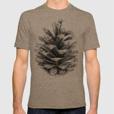 Pine Cone Mens Fitted Tee LARGE Tri-Coffee