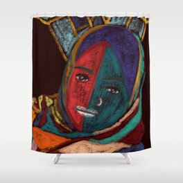 Muslim Power #Spiritual Art #Painting Shower Curtain