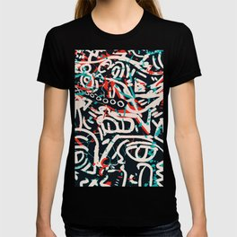 Street Art Pattern Graffiti Post T-shirt