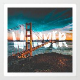 Wander Golden Gate Bridge Art Print