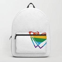 Pride Heart Rainbow Heart Love Has No Gender LGBT Backpack