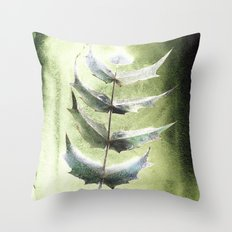 Frozen Mahonia Throw Pillow