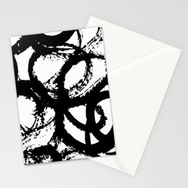 Dance Black and White Stationery Cards