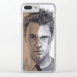 Tyler Durden Clear iPhone Case