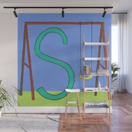 S is for Swing Wall Mural