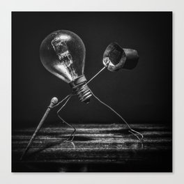 Tip-tap dancer in black and white Canvas Print
