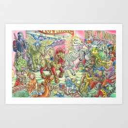 Four Horsemen of the 80s Toypocalypse Art Print