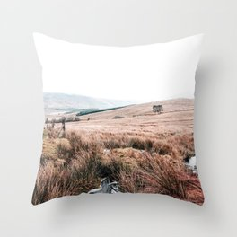 Landscape in Wales Throw Pillow