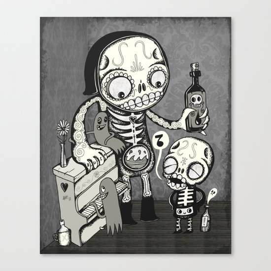 Skulls Night Out Canvas Print