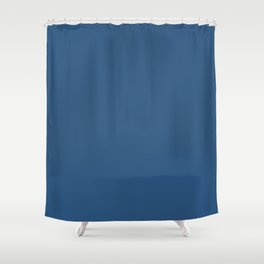 Classic Blue Jay Simple Solid Color Shower Curtain