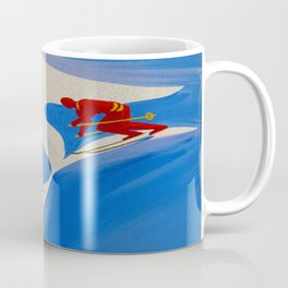 Vintage Winter Sports in France Travel Coffee Mug