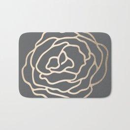Rose White Gold Sands on Storm Gray Bath Mat