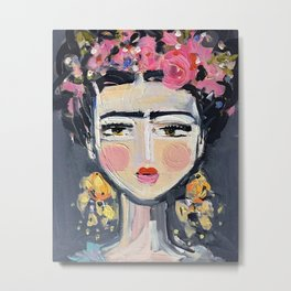 Fine Frida Metal Print
