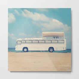 White bus Metal Print