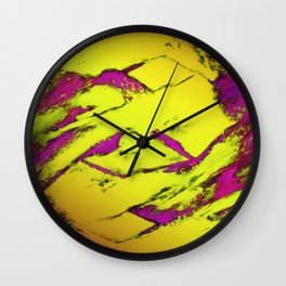 Frctured anger yellow Wall Clock