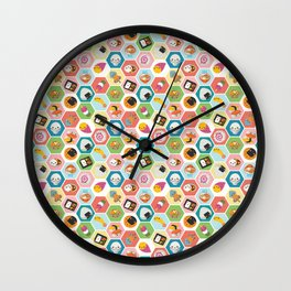 Kawaii Colorful Japanese Food Wall Clock