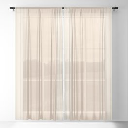 Chamomile & Crème Vertical Gradient Sheer Curtain