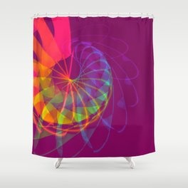 Exhilarating Color Shower Curtain