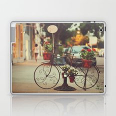 The bike with the flowers Laptop & iPad Skin