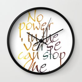 No Power in the 'Verse Wall Clock