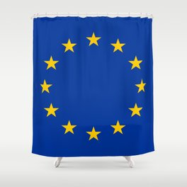 Flag of Europe 4 Shower Curtain