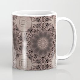 Black and brown abstract pattern . Coffee Mug