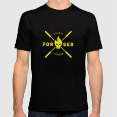 Forged Black MEDIUM Mens Fitted Tee