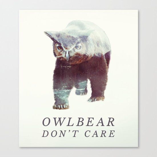 Owlbear (Typography) Canvas Print