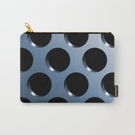 Cool Steel Graphic Art Like Polka Dots Carry-All Pouch