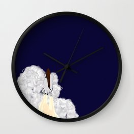 Shuttle Launch Wall Clock