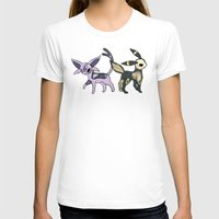 umbreon T-shirts featuring Espeon & Umbreon Anatomy by Logan Niblock