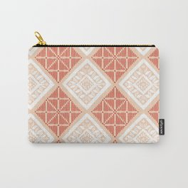 Terracotta Yakan Pattern Carry-All Pouch