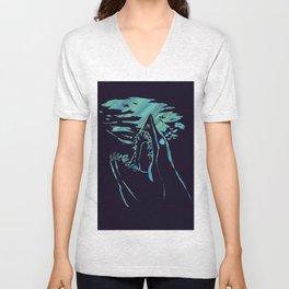 blue mako shark Unisex V-Neck
