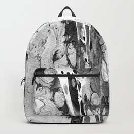 Handmade marble texture Backpack