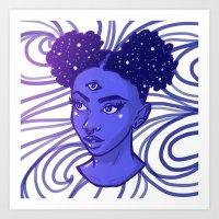 Rainbow Girls - Indigo Art Print