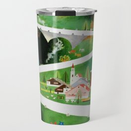 Switzerland - Vintage French Travel Poster Travel Mug