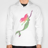 ariel Hoodies featuring Ariel  by foreverwars